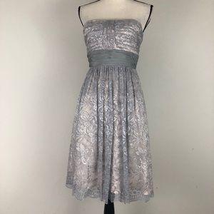 BCBG MaxAzria Lace Strapless Dress